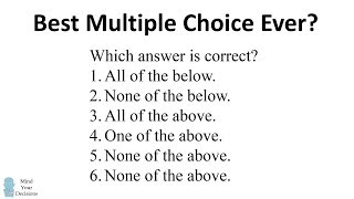 Can You Solve This Tricky Multiple Choice Question?