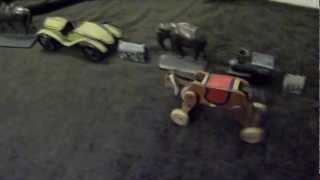 Wooden Windup Spark-plug-like Toy Race Horse