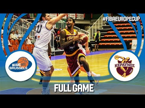 Basic-Fit Brussels (BEL) v Keravnos (CYP) - Full Game - FIBA Europe Cup 2017-18