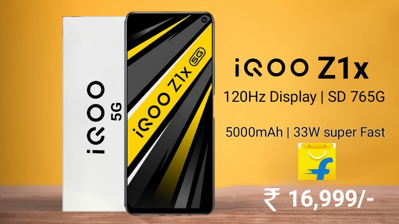 iQOO Z1x 5G 120Hz Display, SD 765G, 5000mAh battery 33W fast charging, India launch date, Price.