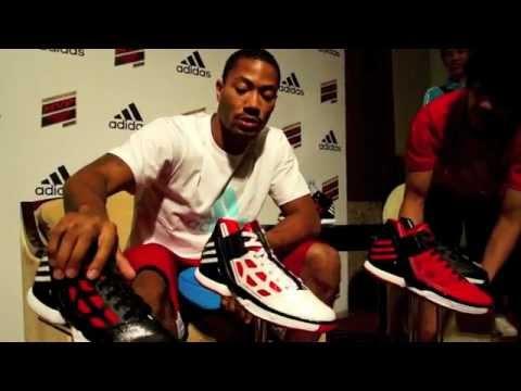 a71d7dc2fa7 Derrick Rose with new Adidas AdiZero Rose 2.0 2012 - YouTube