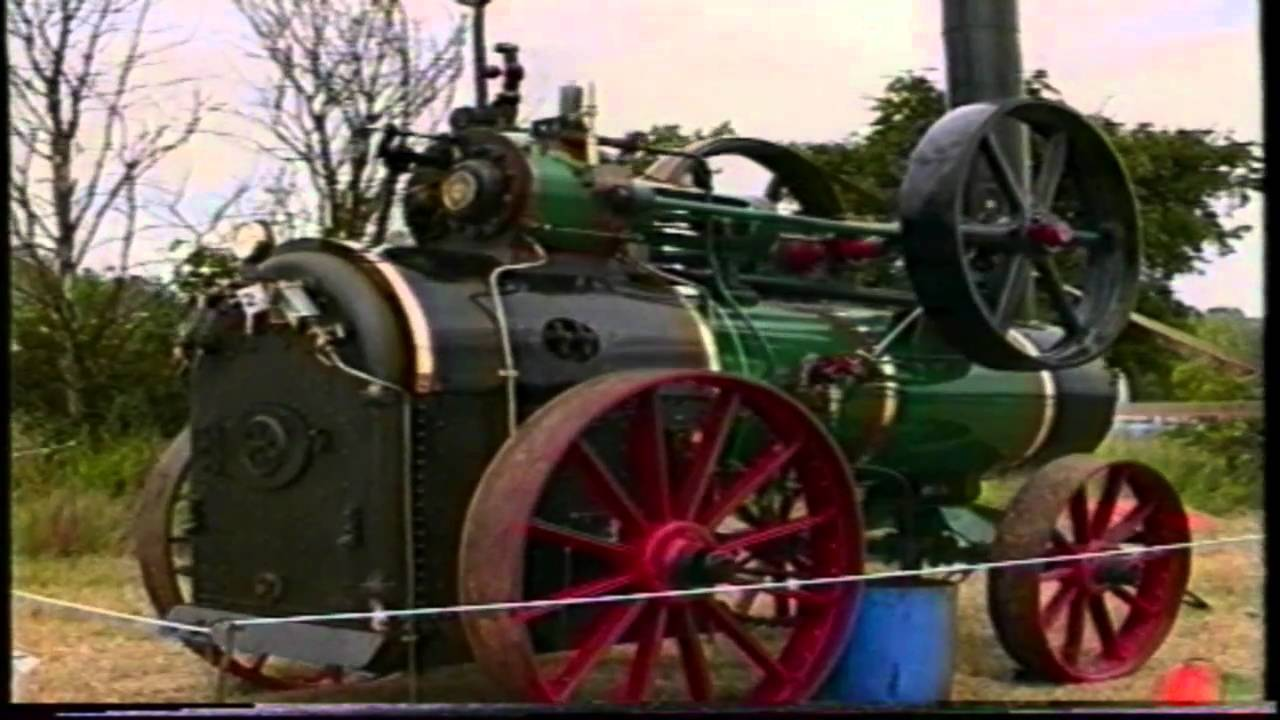 TRACTION ENGINE UK, (NO 11) 1942 MARSHALL PORTABLE, AND A RUSTON CLOVER HULLER - YouTube