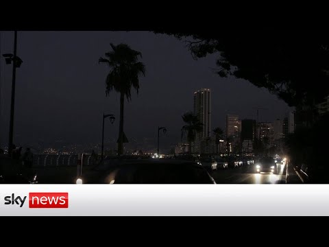 Lebanon blackout: Headlights and torches are only light after electricity had to shut down
