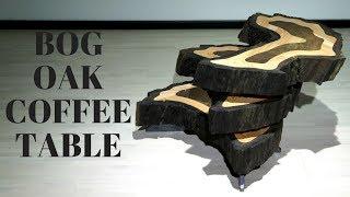 Bog oak coffee table (robot project)
