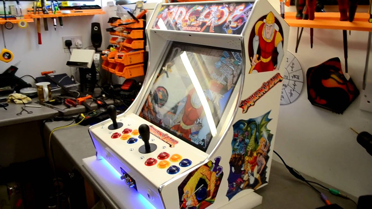 ARCADE MACHINE MAME and Daphne Dragon's Lair Arcade - YouTube
