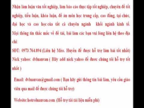 Đề án Kế toán dự phòng phải thu khó đòi ở Việt Nam hiện nay