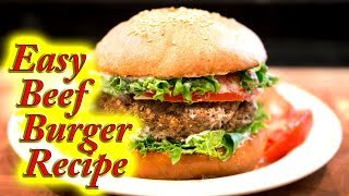 Beef Burgers made easy at home, simple step by step instructions