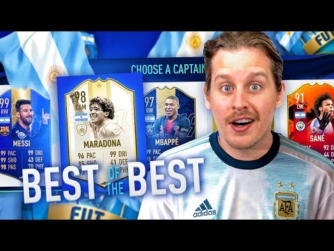 IS ARGENTINA THE BEST?! BEST OF THE BEST FUT DRAFT CHALLENGE #1 FIFA 19 Ultimate Team