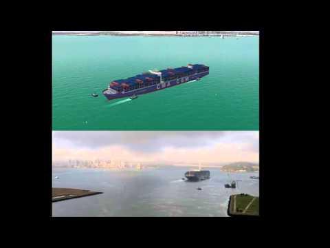 Cal Maritime Simulation: Benjamin Franklin arriving at Oakland