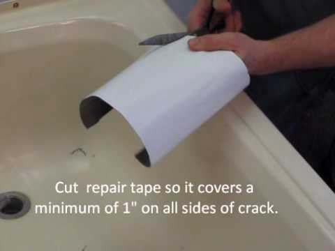 Repairing a cracked bathtub or shower - YouTube