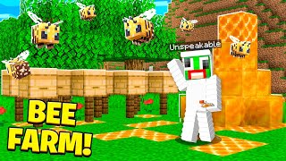 HOW TO MAKE A BEE FARM IN MINECRAFT!