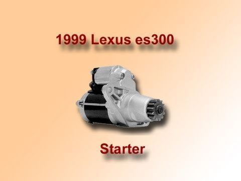hqdefault how to replace a starter on a 1999 lexus es300 youtube  at gsmportal.co