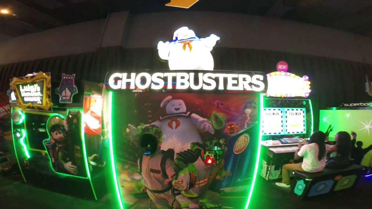 Dave And Buster S Exclusive Ghostbusters Game Youtube