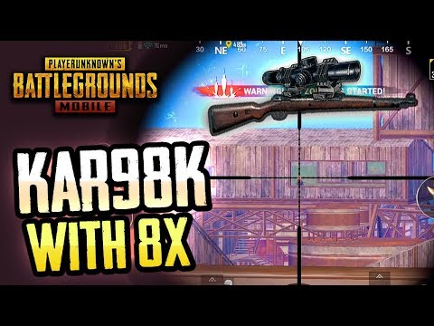 KAR98K with 8X SCOPE is NASTY! PUBG Mobile
