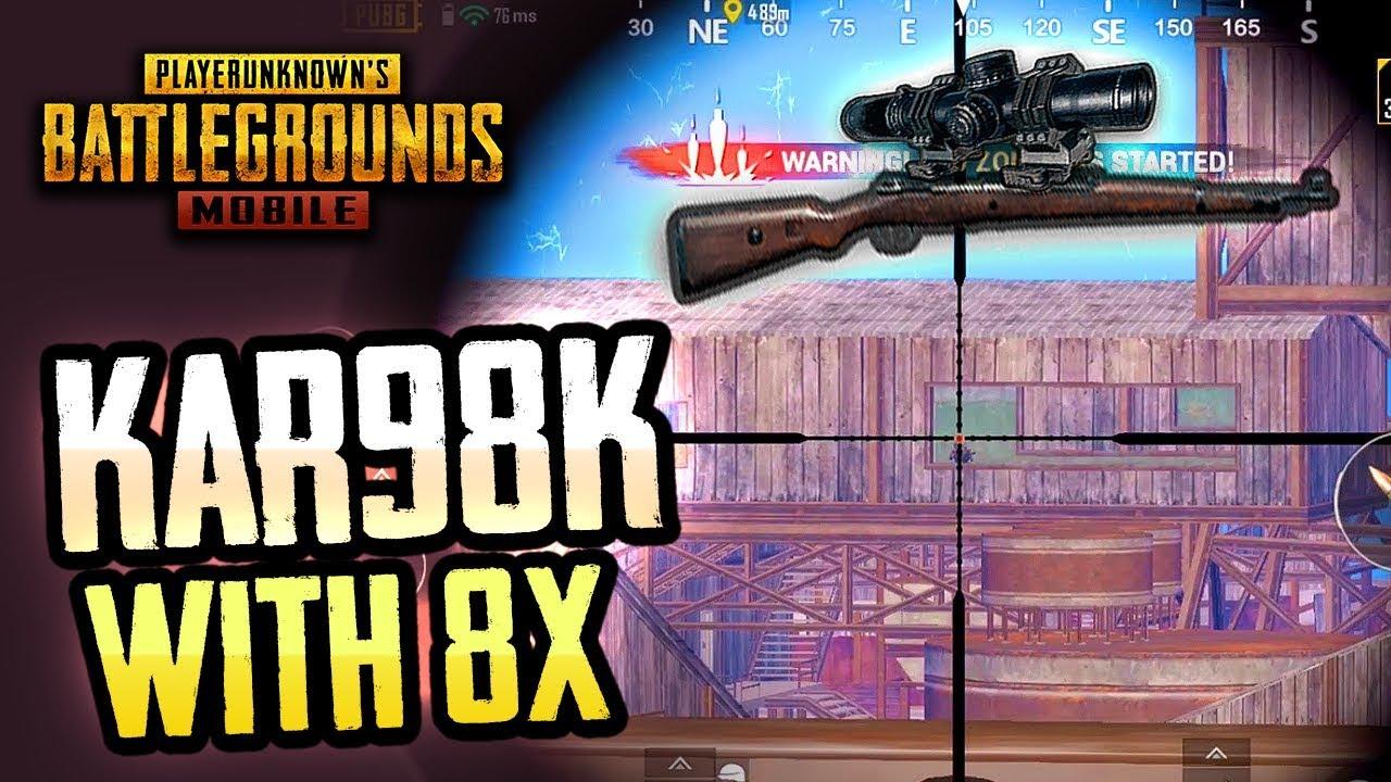 KAR98K With 8X SCOPE Is NASTY PUBG Mobile YouTube