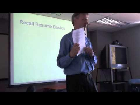 Developing an Outstanding Resume Part 2 of 6