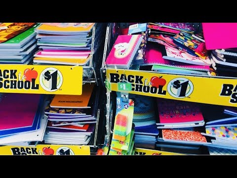 BACK TO SCHOOL DOLLAR TREE SHOP WITH ME CUTE STUFF