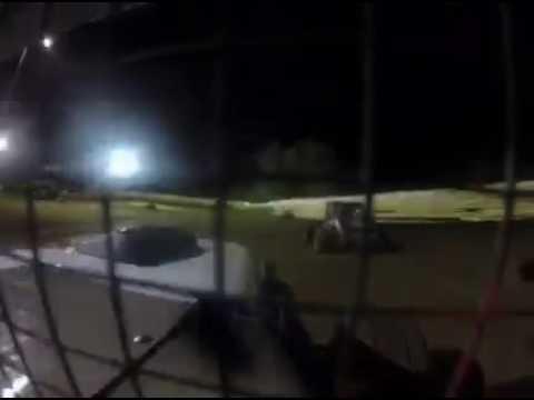 Creek County Speedway 2016 dwarf car crash