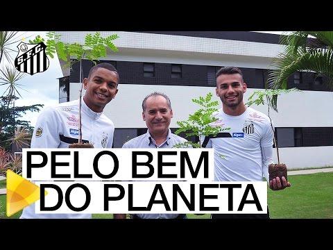 Atletas plantam mudas de pau-brasil no CT Rei Pelé | #MUITO ALÉM DO FUTEBOL