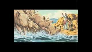 يســـوع يخضع للشياطين ويظلم الخنازير -Jesus is subject to the satans & darkens the pigs