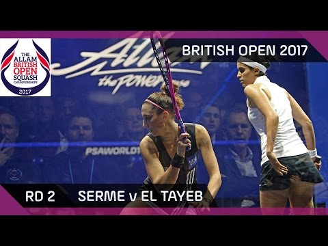 Squash: Serme v El Tayeb - British Open 2017 Rd 2 Highlights