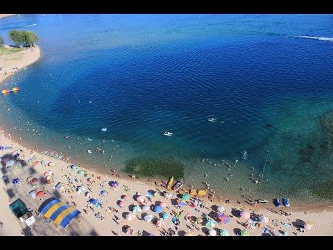 Пляж пансионата Золотые пески на Иссык-Куле