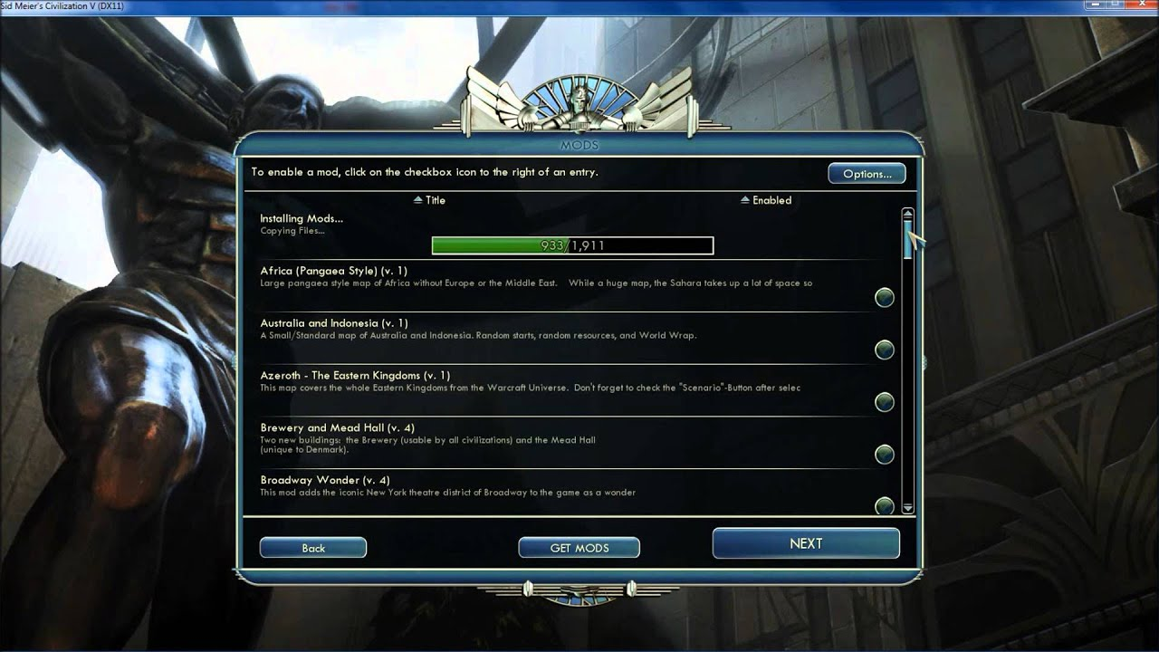 Sid Meier's Civilization V -How To Download Mods from Steam Workshop