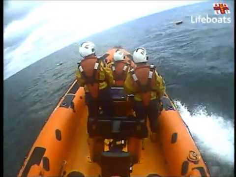 RNLI saves a boy from the sea that was swept offshore in a rubber dinghy