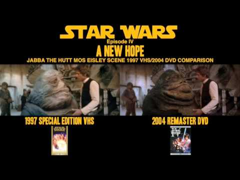 Star Wars Episode Iv A New Hope Jabba The Hutt Mos Eisley Vhs Dvd Scene Comparison Final Youtube
