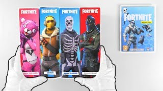 Unboxing FORTNITE Battle Royale Action-Figures + Deep Freeze Bundles (PS4, PC, Xbox One, Switch)