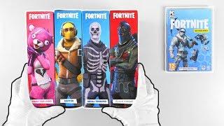 Unboxing FORTNITE Battle Royale Action-Figures + Deep Freeze Bundles (PS4, PC, Xbox One, Switch)