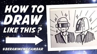 How to Draw Daft Punk From Letter D and P!