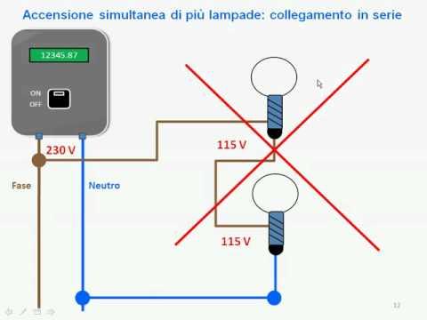 Teoria - Lezione 04 - Accensione simultanea di piu lampade ...