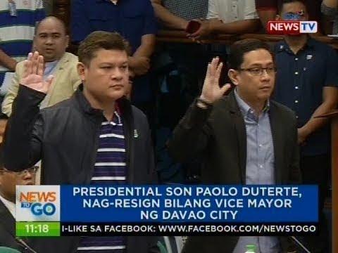 NTG: Presidential son Paolo Duterte, nag-resign bilang Vice Mayor ng Davao City