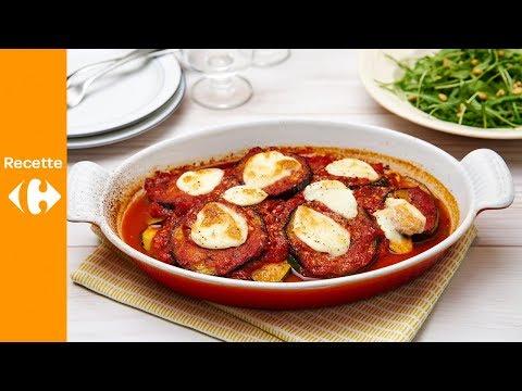 melanzane-alle-parmigiana,-salade-de-roquette-fraîche