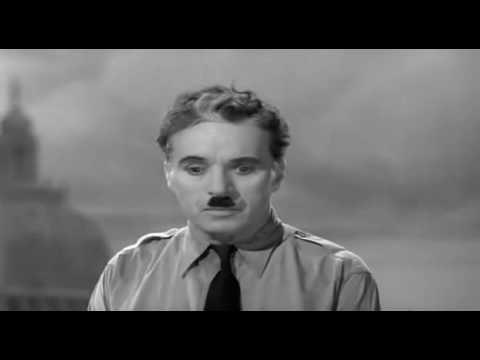 Charlie Chaplin - Famous speech (Adolf Hitler's style)