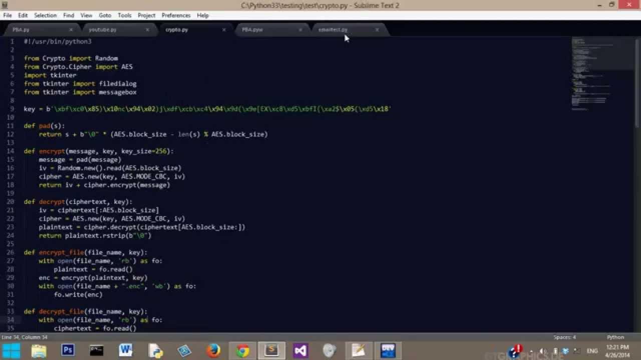 Python: AES Encryption App?