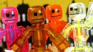 StikBot - Stop Motion Animation ! СТИКБОТЫ - Мультики для Детей, Видео Обзор на русском