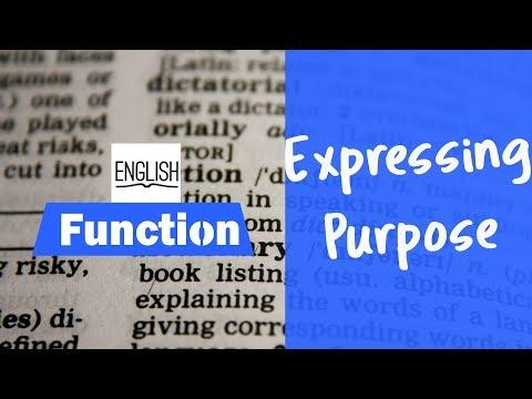 Function, Expressing purpose  شرح الدرس بالدارجة وطرق الاجابة على التمارين