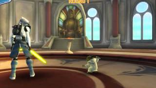 clone wars adventures lightsaber duel vs yoda