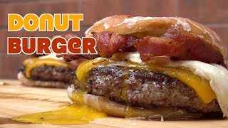 Donut Burger - How to make a Donut Cheeseburger using the Ballistic Griddle