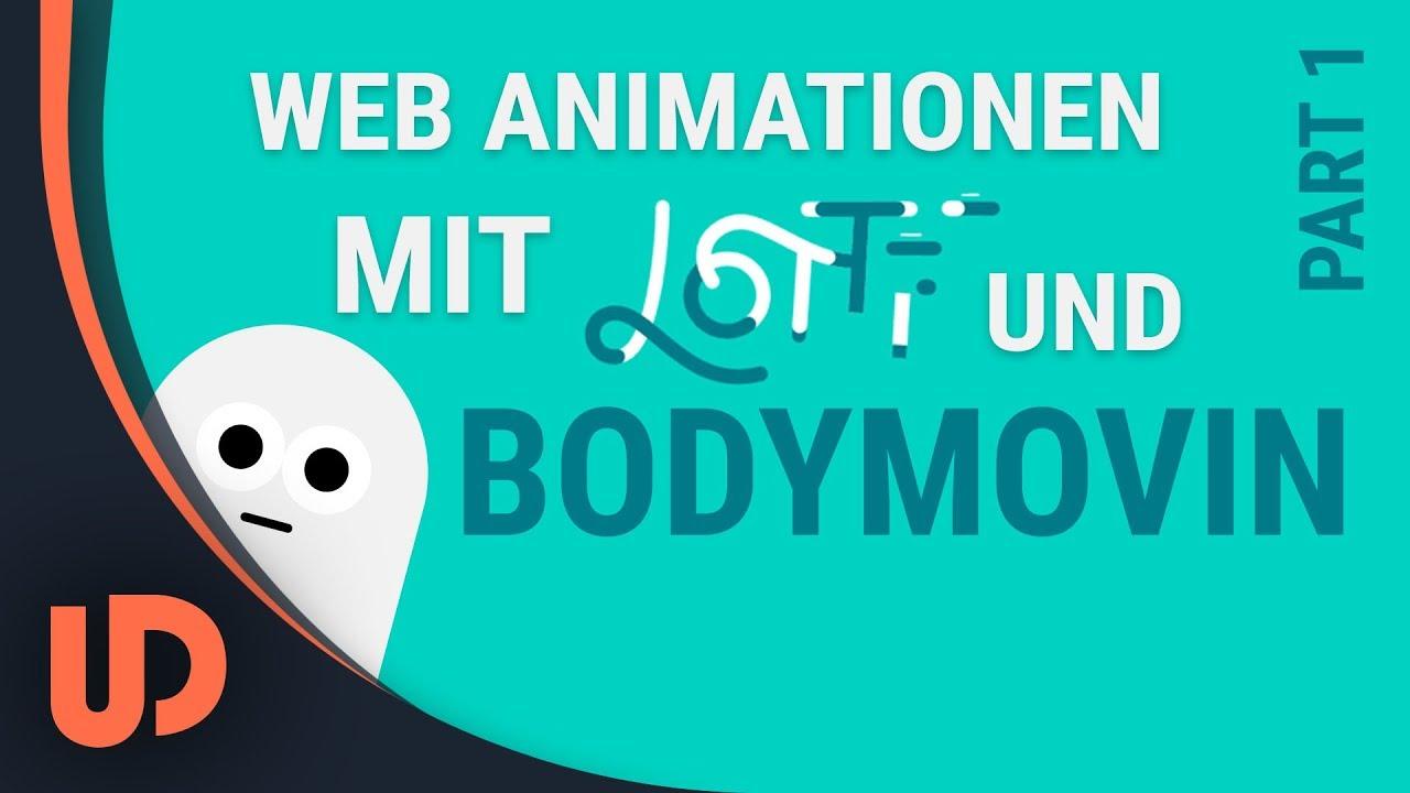 EINFACHE Web Animation mit After Effects(BODYMOVIN) & LOTTIE! Part #1  [TUTORIAL]