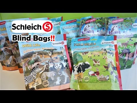 Schleich Farm World Blind Bags | Schleich Collectible Animals Mystery Blind Bags Opening