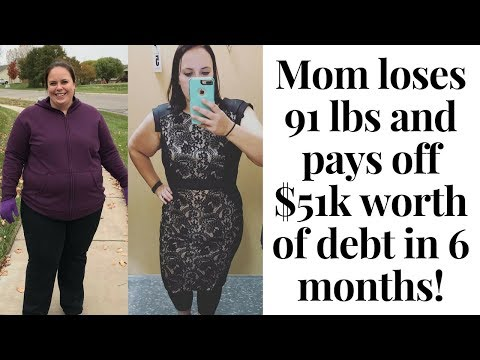 Mom Loses 91 lbs and Pays Off 51k Worth of Debt in 6 Months!