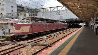 クモヤ443系 広島駅発車