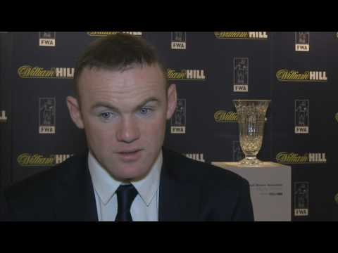 Wayne Rooney receives FWA Tribute award