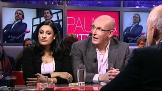 Naema Tahir en Andreas Kinneging over fatsoen bij pers op Binnenhof in Pauw & Witteman 28-02-2012