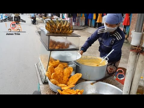 Vietnamese Street Food - Fried Banana Cake | Chuoi Chien