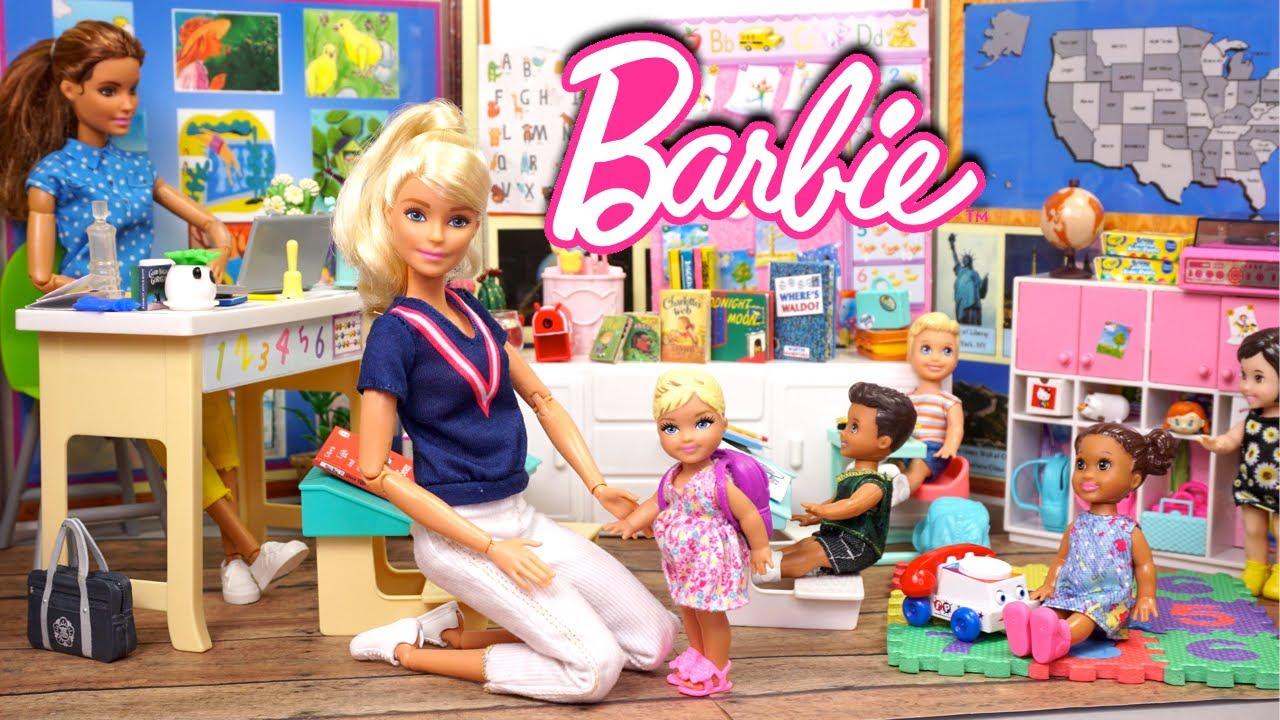 Barbie & Ken Family Preschool Morning Routine - Titi Toys & Dolls