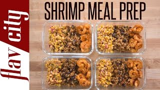 Meal Prep Shrimp - Shrimp Tacos Recipe - Taco Meal Prep